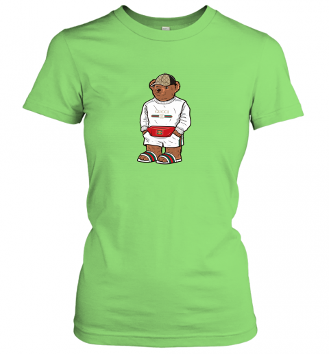 ozor lifes gucci bear shirt ladies t shirt 20 front lime