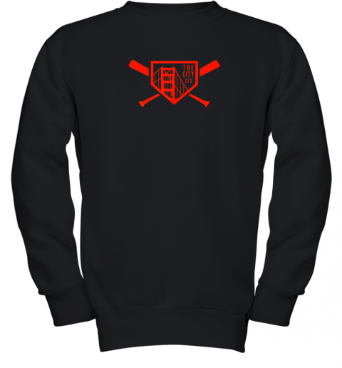 Cool San Francisco Baseball The City Bridge SFO Youth Sweatshirt
