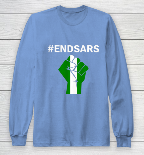 EndSARS End SARS Nigeria Flag Colors Strong Fist Protest Long Sleeve T-Shirt 8