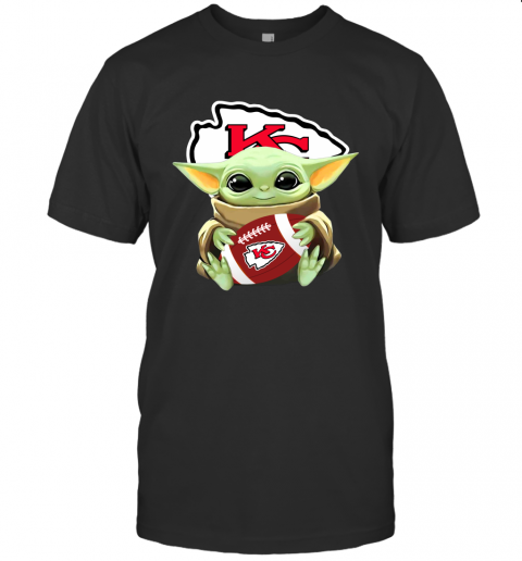Baby Yoda Hug Kansas City Chiefs Champion 2020 Celebrating Gift for Football Fans Men Women