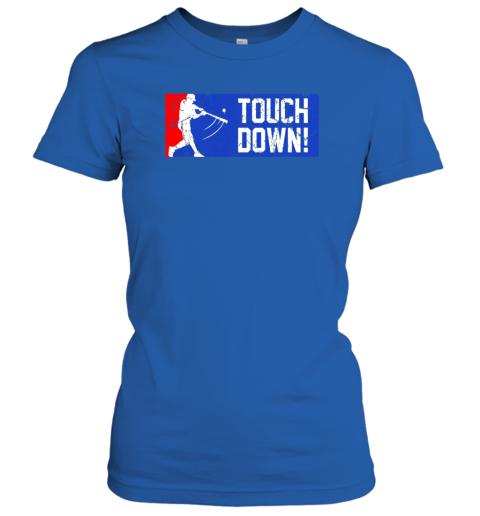 zw62 touchdown baseball funny family gift base ball ladies t shirt 20 front royal