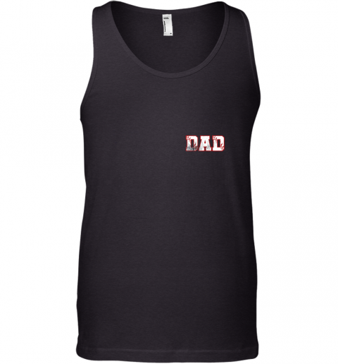 Mens Baseball Inspired Dad Fathers Day Distressed Tank Top