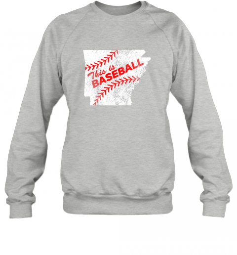 e21x this is baseball arkansas with red laces sweatshirt 35 front sport grey