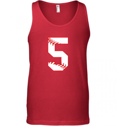 65vn cute fifth birthday party 5th baseball shirt born 2014 unisex tank 17 front red