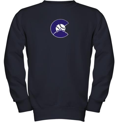 baqw colorado rocky mountain baseball sports team youth sweatshirt 47 front navy
