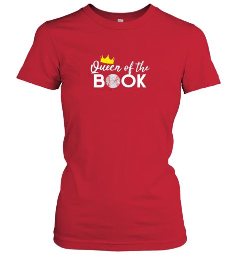 mpni scorekeeper baseball team scorebook queen ladies t shirt 20 front red