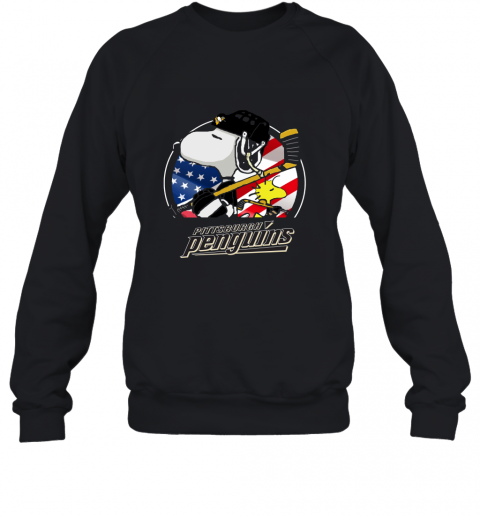Pittsburg Peguins Ice Hockey Snoopy And Woodstock NHL Sweatshirt
