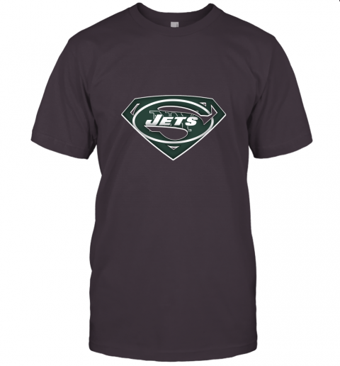 if87 we are undefeatable the new york jets x superman nfl jersey t shirt 60 front dark grey