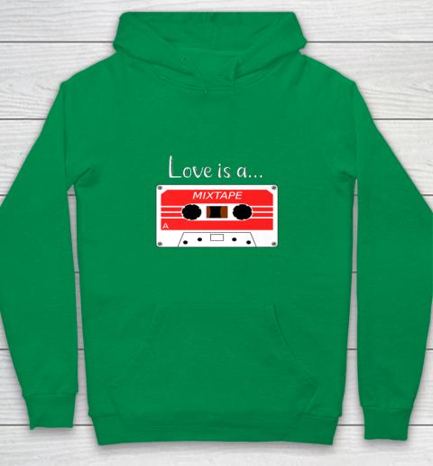 Love is a MixTape Retro Old School Valentine Youth Hoodie 4