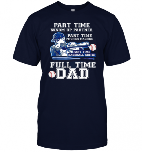 dyxw mens part time warm up partner pitching machine baseball dad jersey t shirt 60 front navy