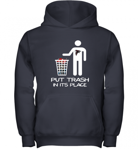 Attlanta Falcons Put Trash In Its Place Funny NFL Youth Hoodie