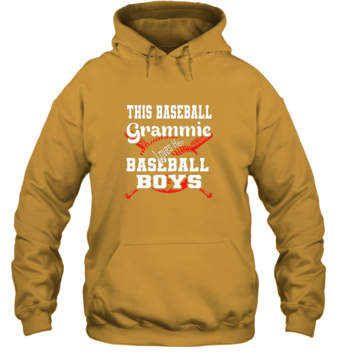 nnhy this baseball grammie loves her baseball boys hoodie 23 front gold