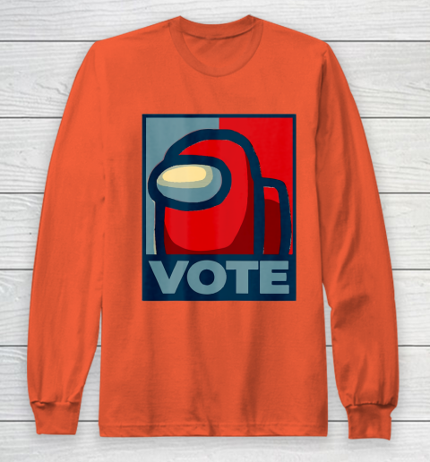 Who is the Impostor neu Among with us start the vote Long Sleeve T-Shirt 5