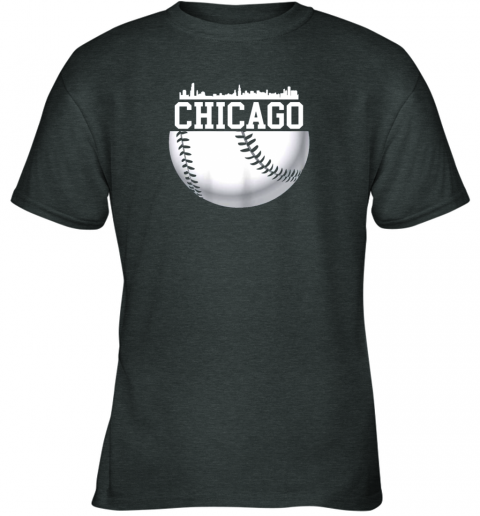 chju vintage downtown chicago shirt baseball retro illinois state youth t shirt 26 front dark heather