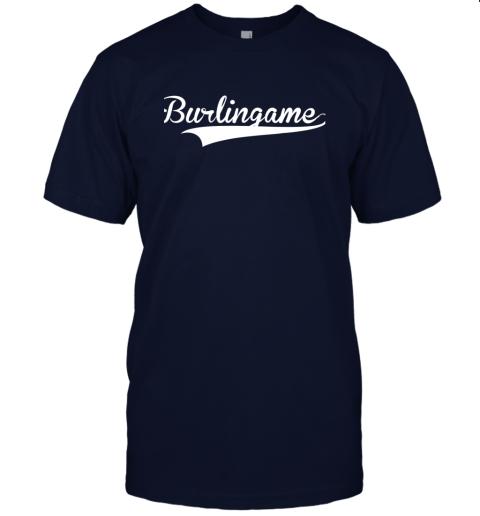 4j6a burlingame baseball softball styled jersey t shirt 60 front navy