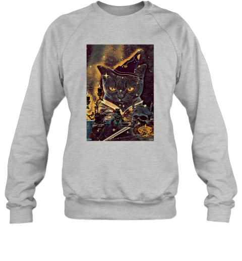 Tarot Cat Cards Magician Halloween Sweatshirt