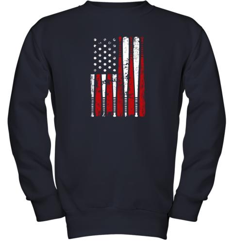8tgx vintage baseball bat american usa flag gift youth sweatshirt 47 front navy