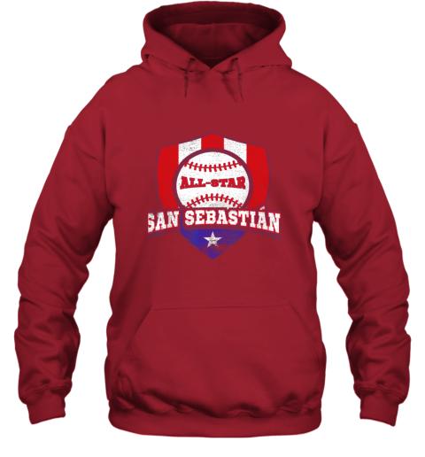 v2ag san sebastian puerto rico puerto rican pr baseball hoodie 23 front red