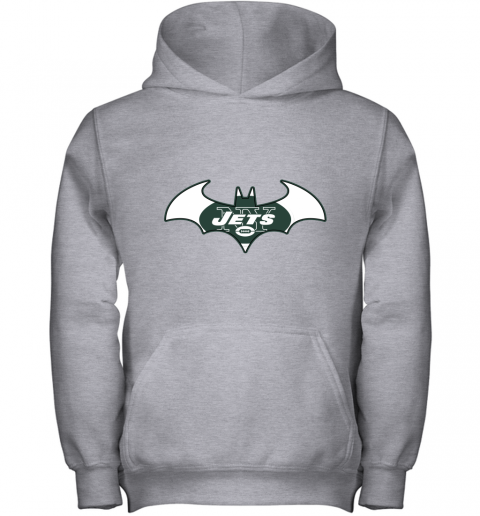 9ugy we are the new york jets batman nfl mashup youth hoodie 43 front sport grey