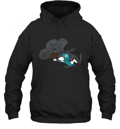 Miami Dolphins Snoopy Plays The Football Game Hoodie