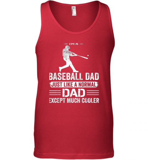nvfn mens i39 m a baseball dad like a normal dad just much cooler unisex tank 17 front red