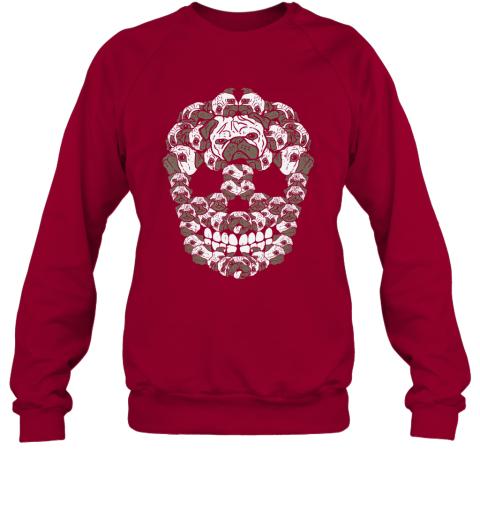 Pug Sugar Skull Funny Dia De Los Muertos Halloween Dog Lover Sweatshirt