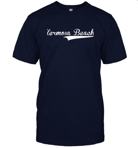 p1qo hermosa beach baseball softball styled jersey t shirt 60 front navy