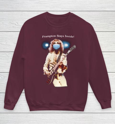 Peter Frampton Covid Stays Inside Youth Sweatshirt 4