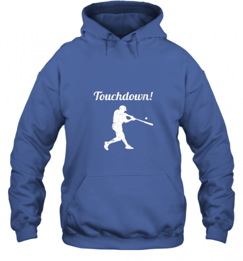 r7r3 touchdown funny baseball hoodie 23 front royal