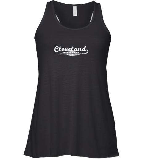 Cleveland Shirt Native American Feather Baseball Racerback Tank