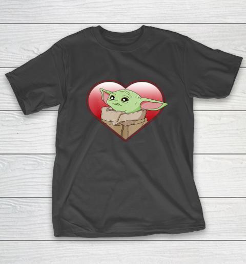 Star Wars The Mandalorian The Child Valentine Heart Portrait T-Shirt
