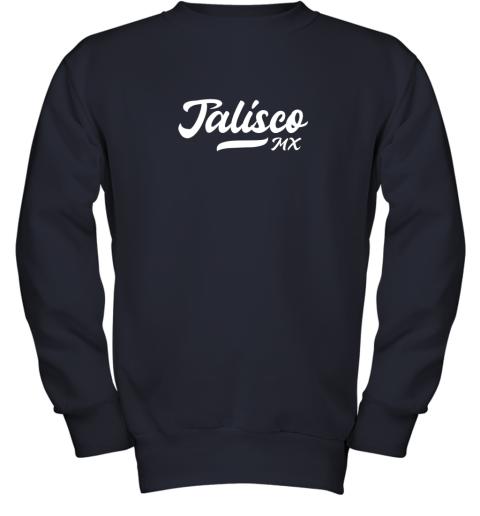 wckj tighe39 s jalisco mx mexico baseball jersey style youth sweatshirt 47 front navy