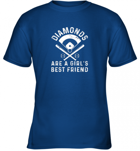 z1bo diamonds are a girl39 s best friend baseball youth t shirt 26 front royal