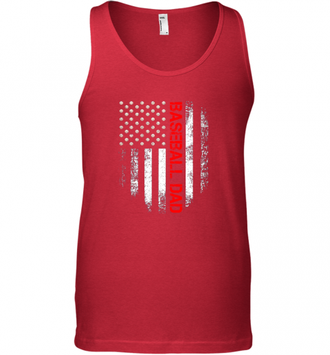 dmqe vintage usa american flag proud baseball dad player unisex tank 17 front red