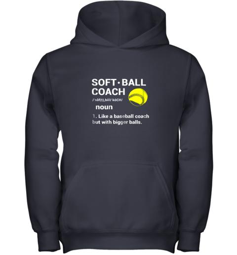 1i7t soft ball coach like baseball bigger balls softball youth hoodie 43 front navy