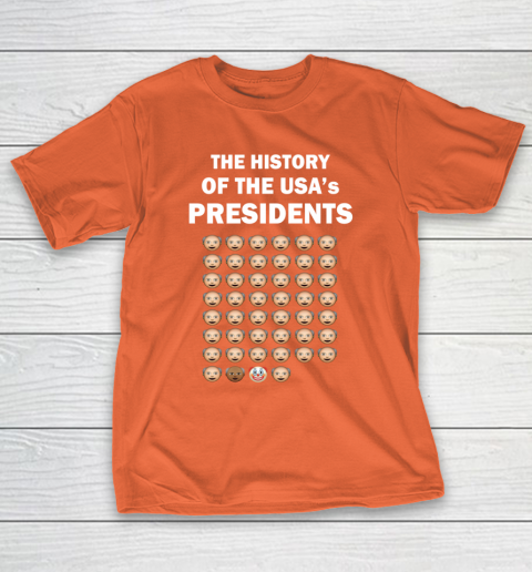 The History of The USA Presidents Emoji Style Anti Trump Updated with Biden T-Shirt 4