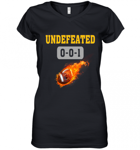 NFL LOS ANGELES CHARGERS LOGO Undefeated Women's V-Neck T-Shirt