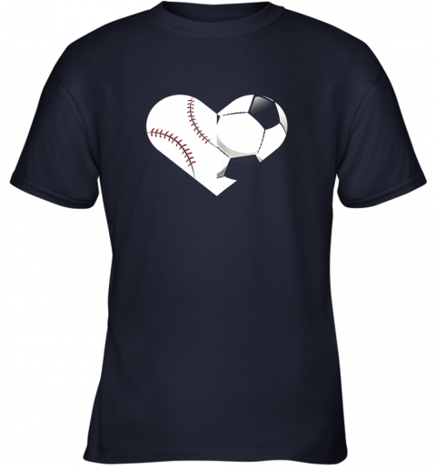 9e1d soccer baseball heart sports tee baseball soccer youth t shirt 26 front navy