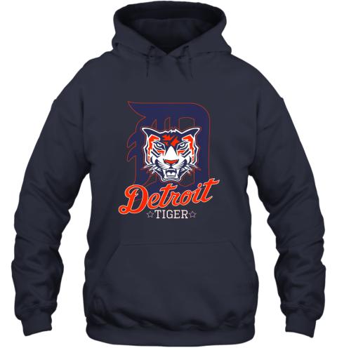 pwkk tiger mascot distressed detroit baseball t shirt new hoodie 23 front navy