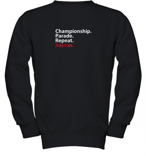 Boston Championship 2018 Game Day Shirt Baseball Youth Sweatshirt
