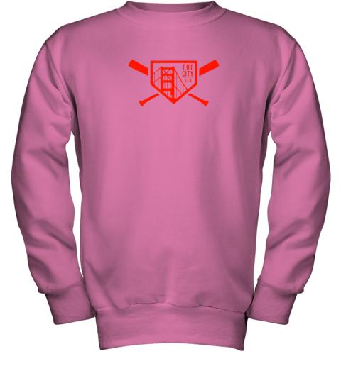 wsxy cool san francisco baseball the city bridge sfo youth sweatshirt 47 front safety pink