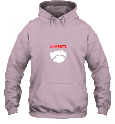 3osx retro minnesota baseball minneapolis cityscape vintage shirt hoodie 23 front light pink