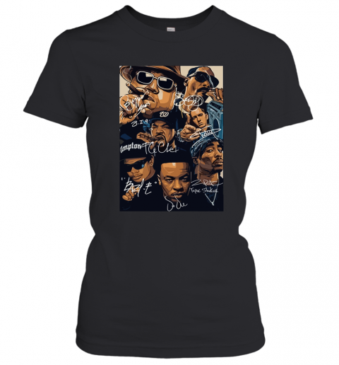 7 American Rapper Inspired Eazy E Biggie Tupac Snoop Dogg Jay-Z Eminem Women's T-Shirt