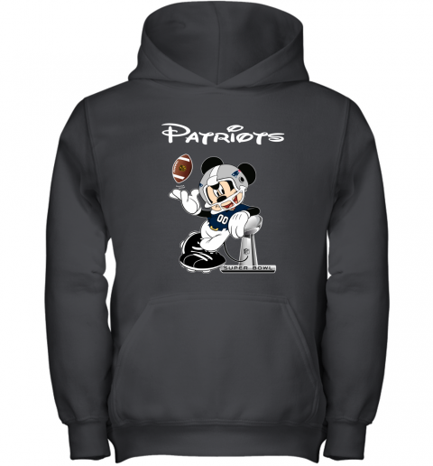 Mickey Patriots Taking The Super Bowl Trophy Football Youth Hoodie
