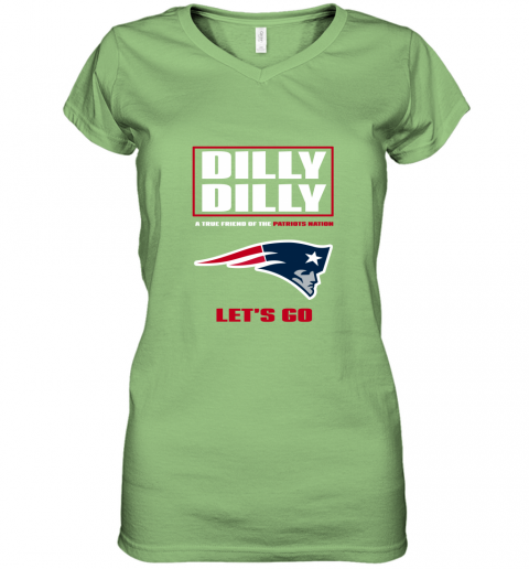 vx0l a true friend of the new england patriots women v neck t shirt 39 front lime
