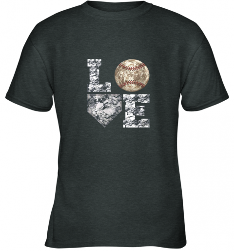 g0s0 baseball distressed ball cute dad mom love gift youth t shirt 26 front dark heather