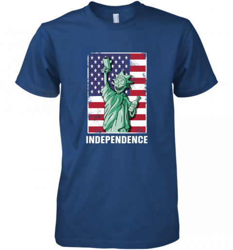 pjvm rick and morty statue of liberty independence day 4th of july shirts premium guys tee 5 front royal