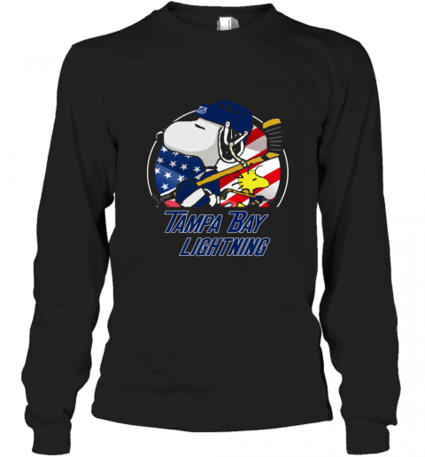 Tampa Bay lightning  Snoopy And Woodstock NHL Long Sleeve T-Shirt