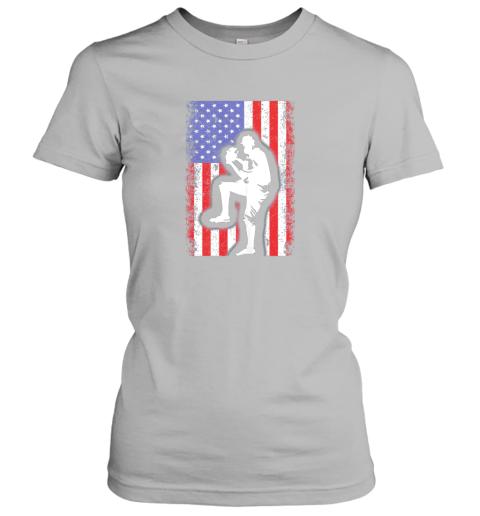 x8ce vintage usa american flag baseball player team gift ladies t shirt 20 front sport grey