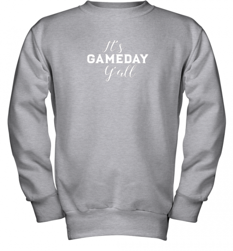 t2zo it39 s game day y39 all football baseball basketball youth sweatshirt 47 front sport grey